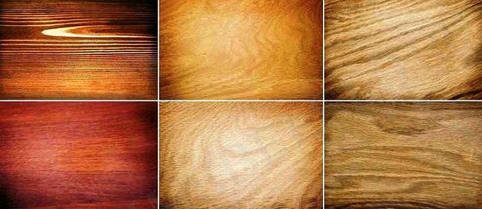 Натуральный шпон из разных пород деревьев